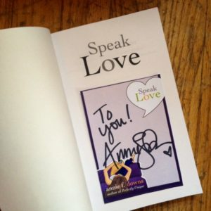 Speak Love autograph